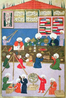 FY 1404 Takyuddin and other astronomers at the Galata observatory founded in 1557 by Sultan Suleyman
