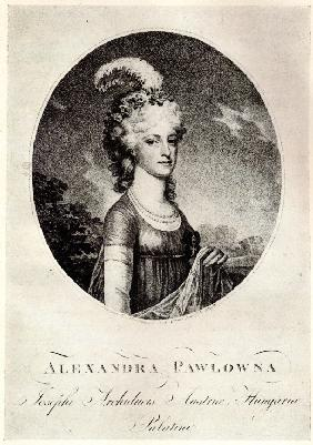 Portrait of Grand Duchess Alexandra Pavlovna (1783-1801)