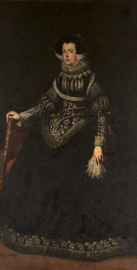 Portrait of Queen Elisabeth of France (1602-1644), Queen consort of Spain