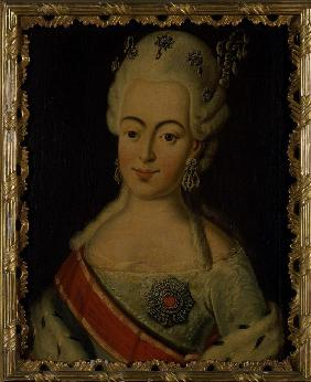 Portrait of Grand Duchess Natalia Alexeyevna of Russia (1755-1776), Princess Wilhelmina Louisa of He