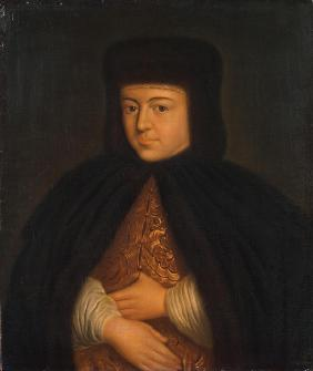 Portrait of the Tsarina Natalia Naryshkina (1651-1694), wife of tsar Alexis I of Russia