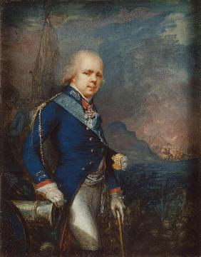 Portrait of Grand Duke Constantine Pavlovich of Russia (1779-1831) before the Battle of Novi