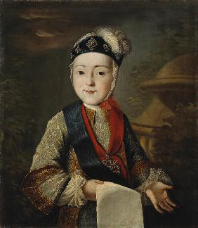 Portrait of Grand Duke Peter III. (1728-1762) as Child