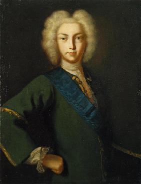 Portrait of the Tsar Peter II of Russia (1715-1730)