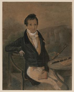 Portrait of the flute player Jean-Louis Tulou (1786-1865)
