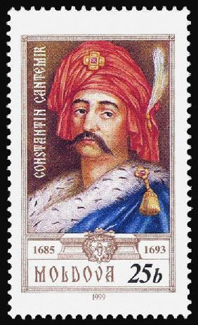 Portrait of Constantin Cantemir (1612-1693), Prince of Moldavia (Stamp)