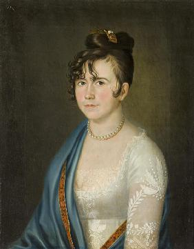 Portrait of Countess Anna Vladimirovna Bobrinskaya (1769-1846)