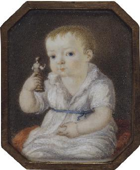 Portrait of Sergey Ivanovich Volkov as child