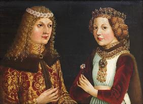 Wedding portrait of Ladislaus the Posthumous (1440-1457) and Magdalena of Valois (1443-1495)