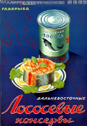 Advertising Poster for the Far Eastern tinned salmon