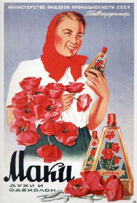 Advertising Poster for the perfumes The Poppies