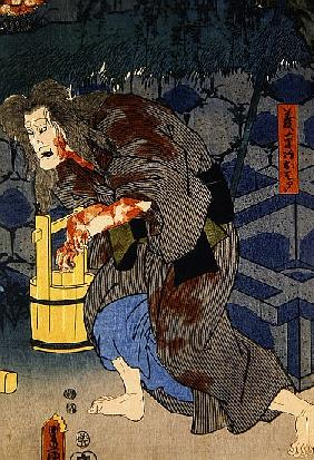 The blood stained witch - figure from Japanese theatre