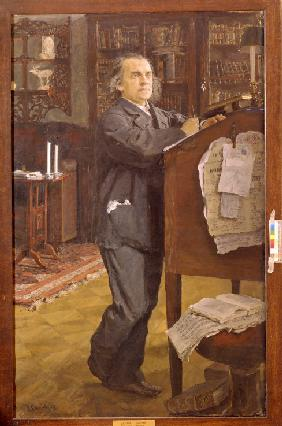 Portrait of the composer Alexander Serov (1820-1871)
