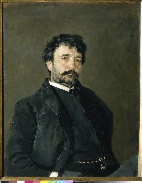 Portrait of the opera singer Angelo Masini (1844-1926)