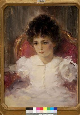 Portrait of Tatyana Sergeevna Khokhlova, née Botkina (1897-1985) as Child