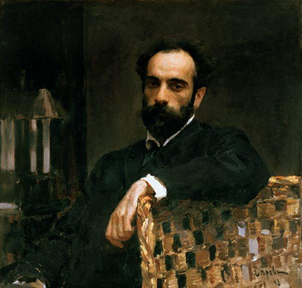 Portrait of the artist Isaak Ilyich Levitan (1860-1900)