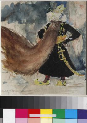 Chernomor. Costume design for the opera Ruslan and Lyudmila by M. Glinka