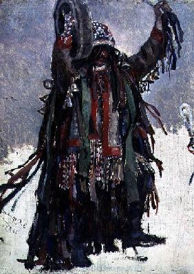 A Shaman, sketch for 'Yermak Conquers Siberia'