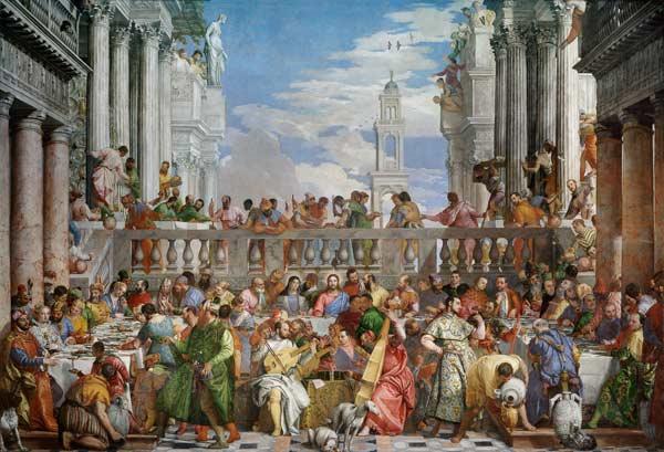 Les Noces De Cana Peinture Huile Sur Toile De Veronese En Reproduction Imprimee Ou Copie Peinte A L Huile Sur Toile