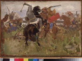 Battle between the Scythians and the Slavs