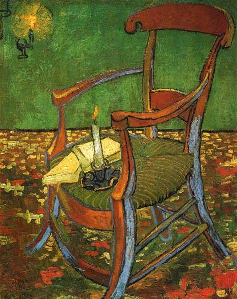 gauguins chair vincent van gogh en reproduction imprim e ou copie peinte l 39 huile sur toile. Black Bedroom Furniture Sets. Home Design Ideas