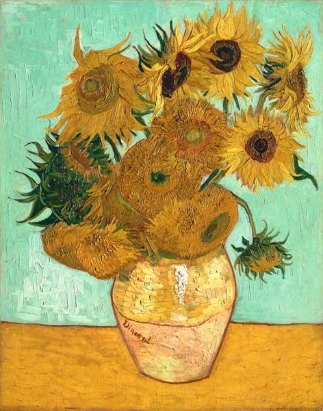 Les tournesols huile sur toile de vincent van gogh - Peinture a l huile van gogh ...