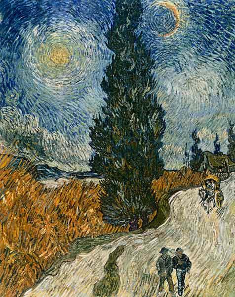 Route Avec Cypres Tableau De Vincent Van Gogh En Reproduction Imprimee Ou Copie Peinte A L Huile Sur Toile