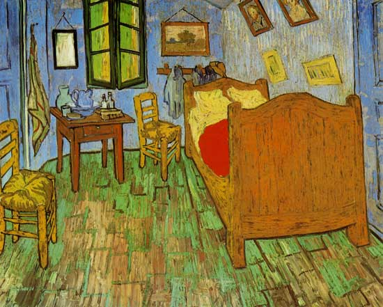 Chambre couher arles tableau de vincent van gogh huile sur toile - La chambre a coucher van gogh ...