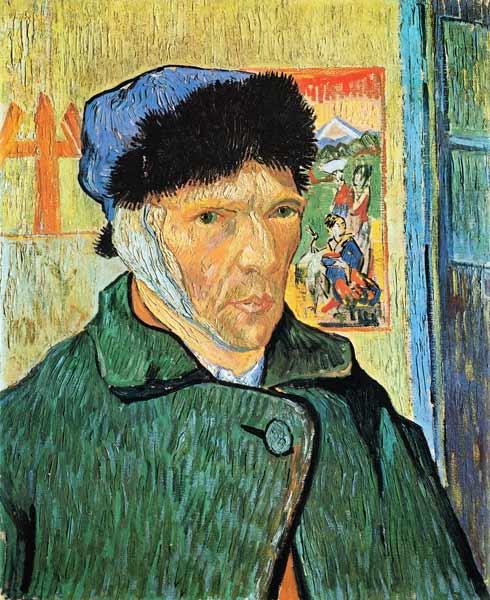 Auto portrait avec une oreille coup e peinture huile sur toile de vincent van gogh - L oreille coupee van gogh ...