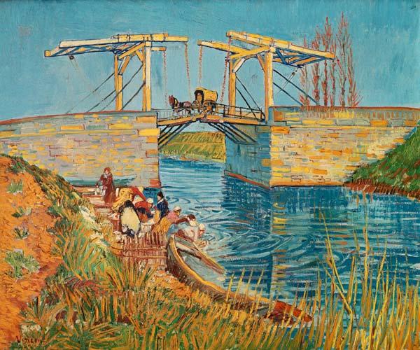 Le pont de langlois arles aux lavandi res peinture - Analyse du tableau la chambre de van gogh ...