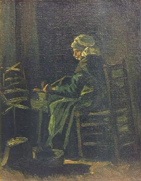 Woman at the Spinning Wheel