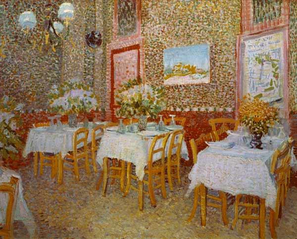 Interior of a restaurant vincent van gogh for Interieur restaurant
