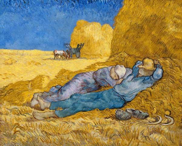 La meridienne ou la sieste peinture huile sur toile de - Analyse du tableau la chambre de van gogh ...