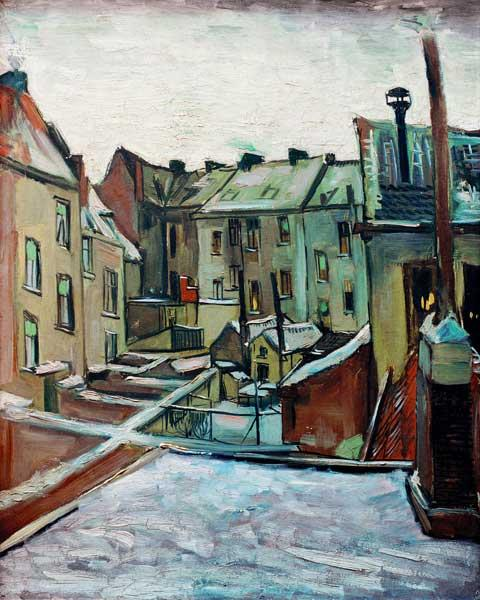 v.Gogh /Backyards in Antwerp/Paint./1885