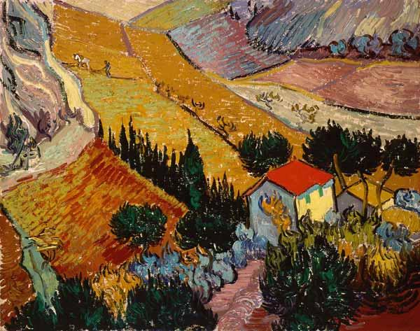 Landscape with House and Ploughman