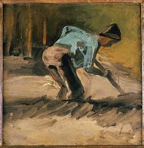 Man at Work, c.1883 (oil on paper laid down on panel)