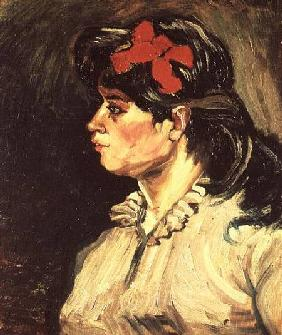 Portrait of a Woman with a Red Ribbon