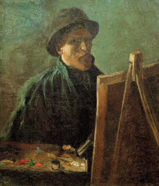 van Gogh, Self-Portrait at Easel / 1886