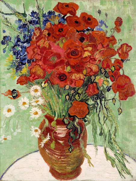 Still Life, Vase with Daisies and Poppies
