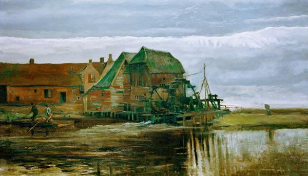 Vincent van Gogh / Watermill at Gennep