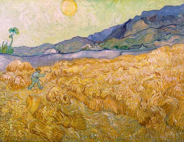 Van Gogh / Wheatfield with Reaper / 1889