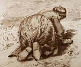 Vincent van Gogh, Kneeling Peasant Woman
