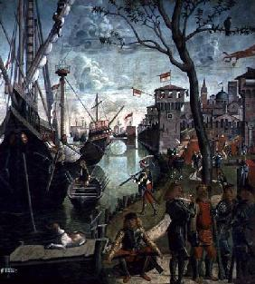 Arrival of St.Ursula during the Siege of Cologne, from the St. Ursula Cycle