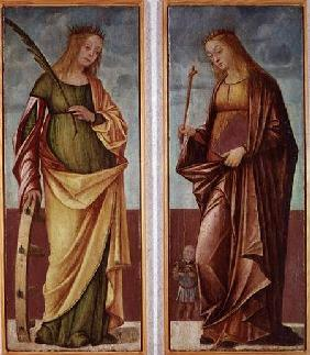 St. Catherine of Alexandria and St. Paraceve or Veneranda