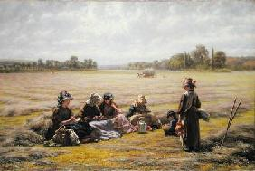 Field Walter - Harvesters resting in the Sun, Berkshire