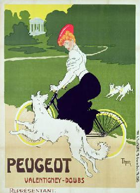 Poster advertising Peugeot bicycles, printed by G. Elleaume