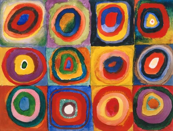 Carres Et Cercles Concentriques Vassily Kandinsky En Reproduction Imprimee Ou Copie Peinte A L Huile Sur Toile