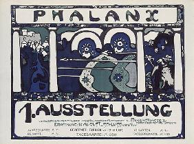 Poster of the first phalanx exhibition (after a dr