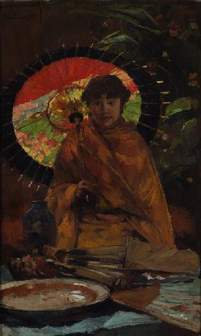 Girl with Japanese parasol