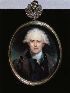 Portrait Miniature of Paolo Pasquale (1725-1800) 1800 (w/c on card)